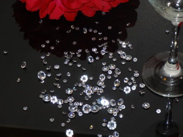 3000 MIXED WEDDING TABLE SCATTER CRYSTAL DIAMOND CONFETTI FAVOUR DECORATION