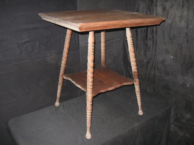 Victorian Era Oak Parlor Table End Table Side Table With