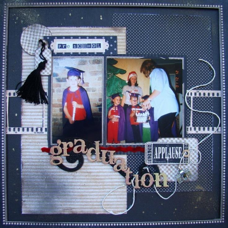 graduation scrapbooking scrapbooking2angels Graphic 45 layouts