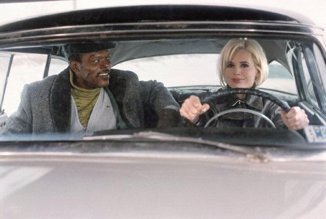 Still of Geena Davis and Samuel L. Jackson in The Long Kiss Goodnight