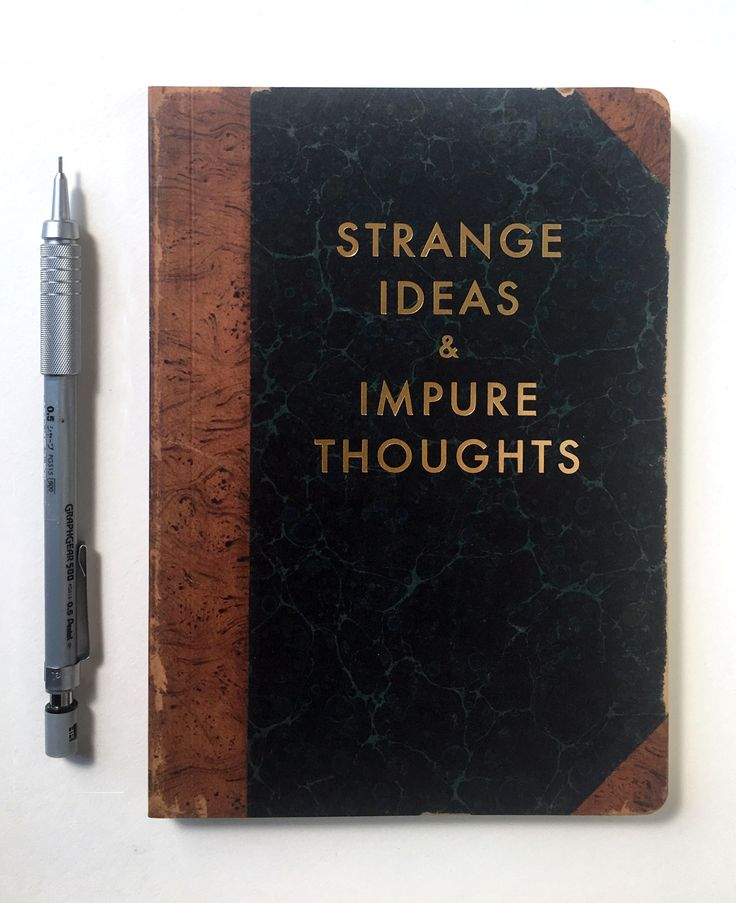 "Don't leave strange ideas and impure thoughts floating around in your head—write them down in our ""Strange Ideas & Impure Thoughts"" journal! Featuring a gold foil stamped cover and creamy lined paper, this journal stands ready to record whatever..."
