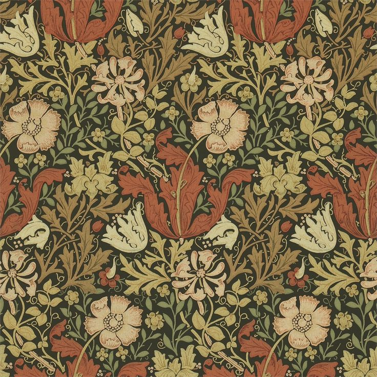 The Original Morris & Co - Arts and crafts, fabrics and wallpaper designs by William Morris & Company | Products | British/UK Fabrics and Wallpapers | Compton (DMCW210420) | Compendium II Wallpapers