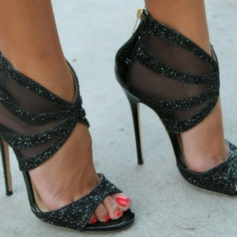 Jimmy Choo heels But maybe in navy or a rich red