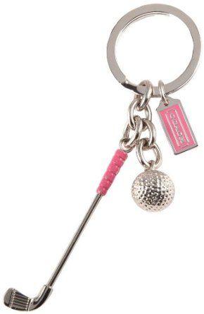 COACH Golf Club Key chain..Gotta Have One..Im a Golf Mom