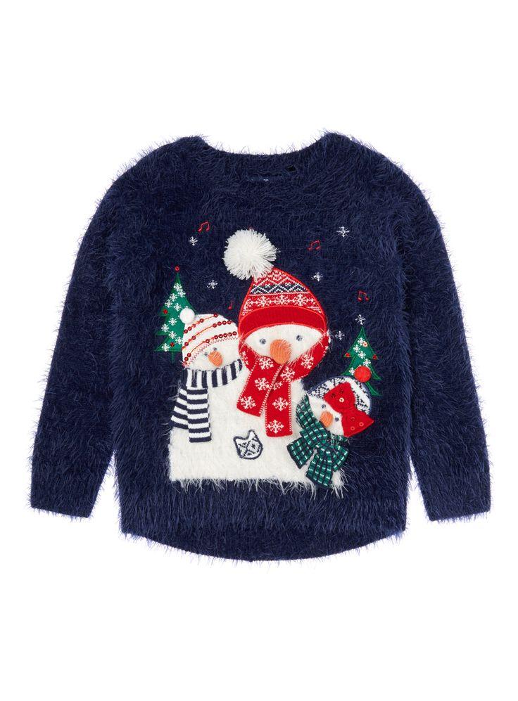 Seasonal Wardrobe: Update Her Seasonal Wardrobe With This Cute Snowman Jumper