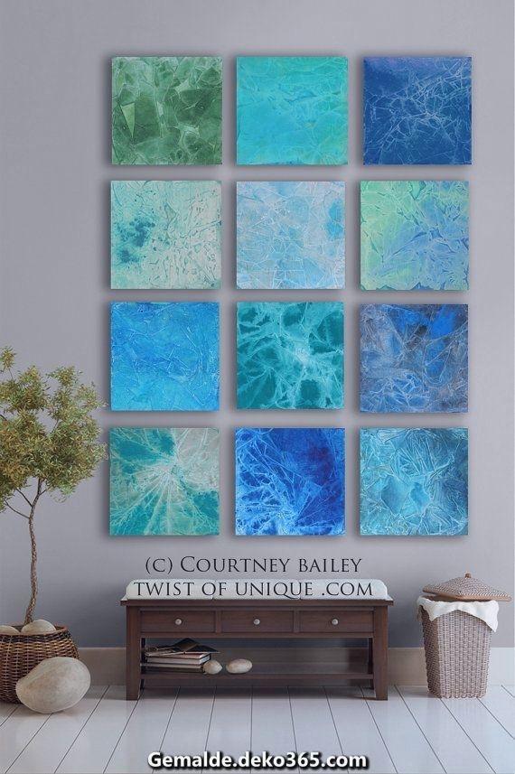Charismatische Moderne Abstrakte Malerei Aufwarts Dem Ozean 12