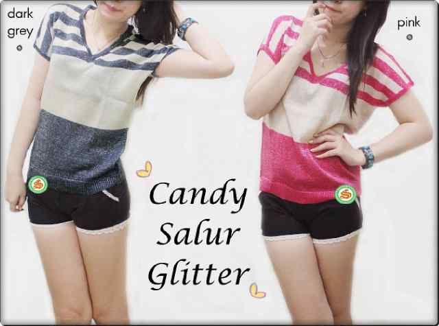 """Candy Salur Glitter"" Ready Stock (produksi terus) Harga Rp 41000 Bebas pilih warna (6 Warna) Min 3pcs Ket: 2 warna tambahan dari gambar sebelumnya"