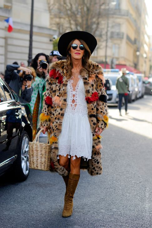 Anna Dello Russo, after Chloé Paris RTW Fall-Winter PFW FW15, Street Style