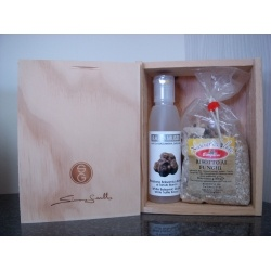 Simon Gault Polenta Gift set  $25.30 NZD     A pleasant gift box for a splendid Italian experience.    1 x 300gr Italian Polenta Mix    (Ready to use italian Polenta Mixture  with easy to follow instructions)    1 x 100ml White truffle balsamusse