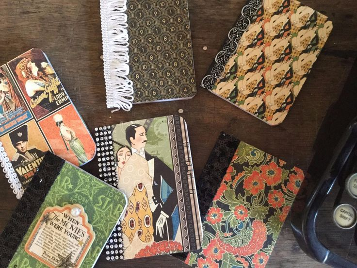 Mini Notebook Set of 6: Graphic 45 Vintage Hollywood by AuthorAndFriends on Etsy