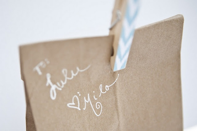 Brown Paper Bags and Decorated Clothes Pins