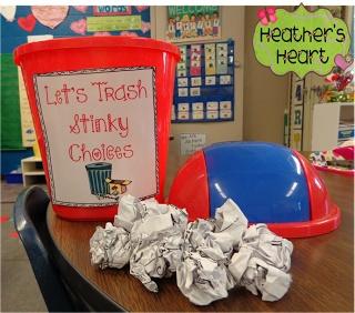 "Kindness lesson / activity -- ""Kind Heart, Stinky Choices"" via Heather's Heart -- LOVE IT!"