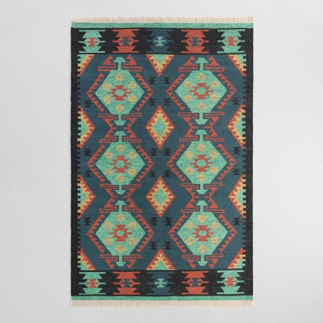 Handwoven From Recycled Plastic Bottles Our Exclusive Area Rug Features Our Kilim Inspired Diamond Design In A Bri Kilim Woven Outdoor Rugs Patio Outdoor Rugs