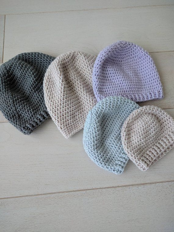 6c7892e82ee Perfect Simple Crochet Beanie Pattern Instructions for Baby