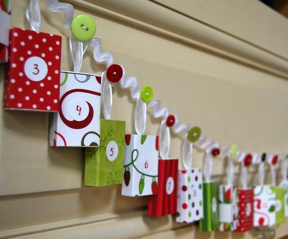 Advent calendar.  Another idea instead of gifts is to put notes with special things to do that day, like go to a movie, out for ice cream, make hot chocolate, watch a Christmas movie, etc.