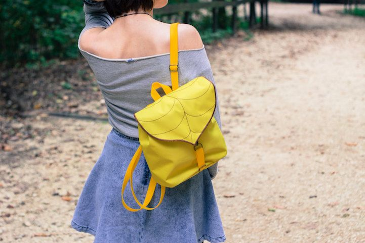 Budapest-based shop Leafling incorporates the elegant shape of a leaf into whimsical bags that are as comfortable in nature as they are in the city. Completely handcrafted, the packs are adorned with giant leaves that act as flaps or surface decoration, adding a playful twist to practical, everyday bags. They're available in a bevy of styles to fit everything you'll need to carry—from small saddlebags to large backpacks, you can take these designs for a night out or on a weekend camping…