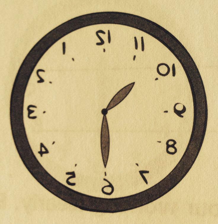 A grade 1 Singapore olympiad math question: When reflected in a mirror, the face of a clock looks as shown above. What time was it then? #time #clock #olympiad #math
