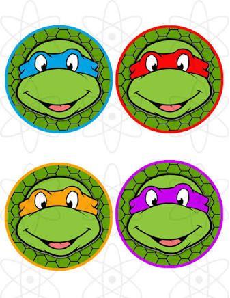 Resultado de imagen para ninja turtles cupcake toppers