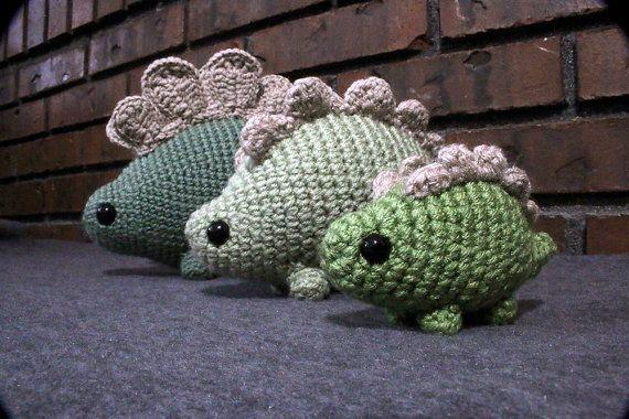 Stubbo  Digital Crochet Pattern  Amigurumi Dinosaur