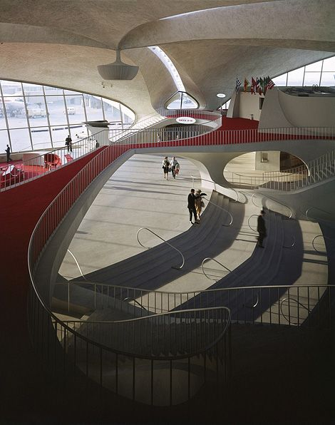 Fancy - TWA Flight Centre at JFK International Airport, 1962. Designed by Eero Saarinen