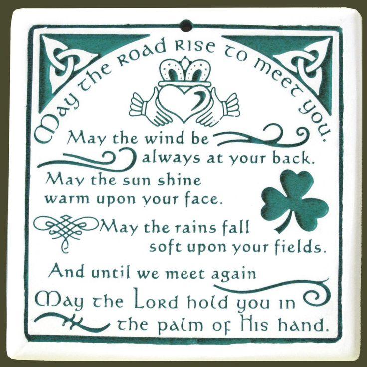 Irish blessing: Rise Trivet, Art Irish, Roads Rise, Irish Blessed, Quotes, Green Goddesses, Seneca Ceramics, Blessed Memorablequot, Ceramics Roads