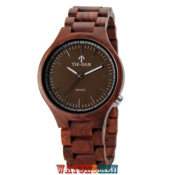 Деревянные+наручные+часы+TIEDAN+WATCH+TDQ01