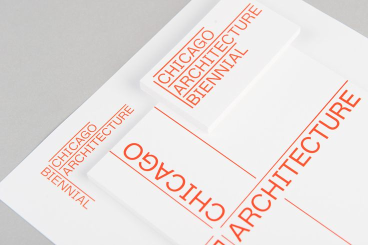 Zak Group's identity for the Chicago Architecture Biennial
