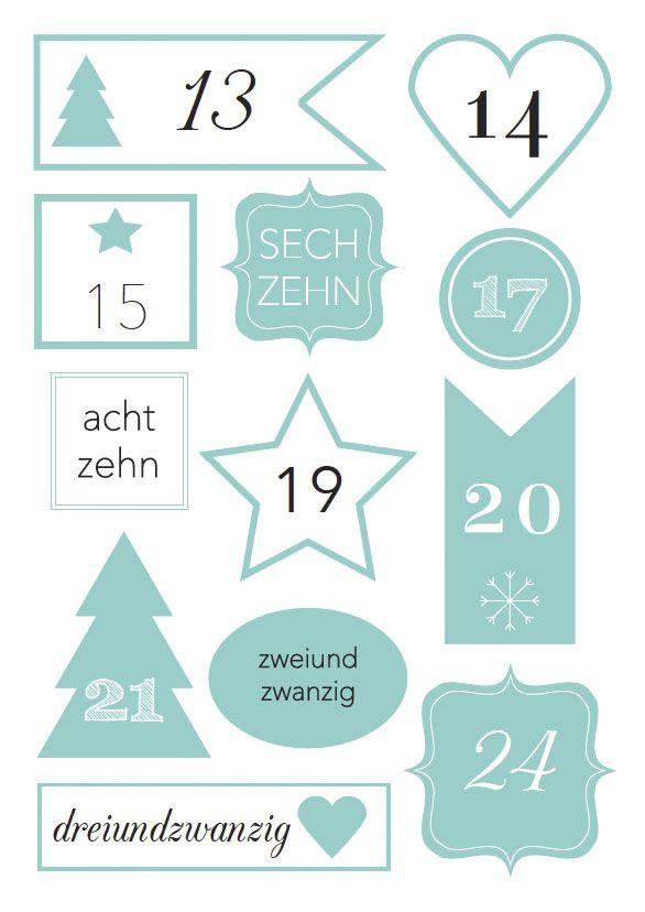 Free Printable Friday Zahlen Fur Den Adventskalender