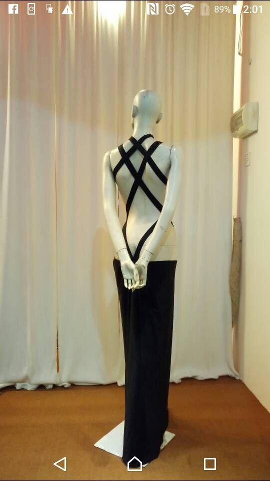 Back line is beautiful. Dance dress. Formal dress. Evening dress.