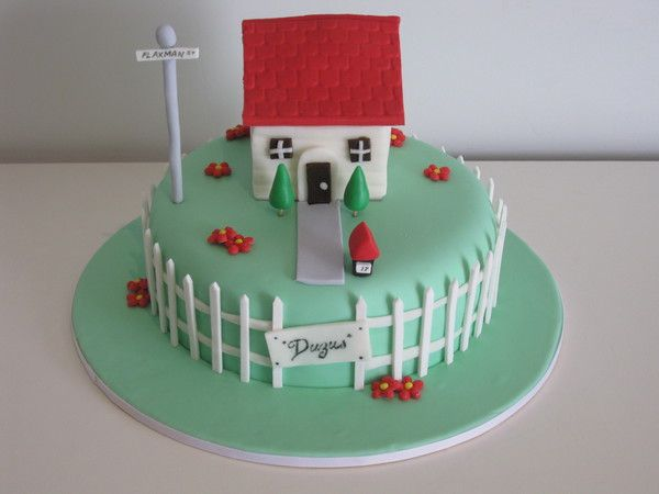Cake Decoration For House Blessing : 41 best House Warming Cakes images on Pinterest House ...