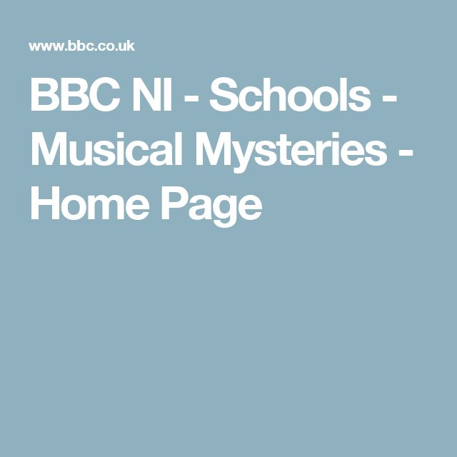 BBC NI - Schools - Musical Mysteries - Home Page
