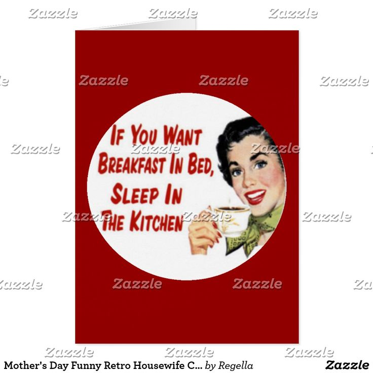 Mother's Day Funny Retro Housewife Card