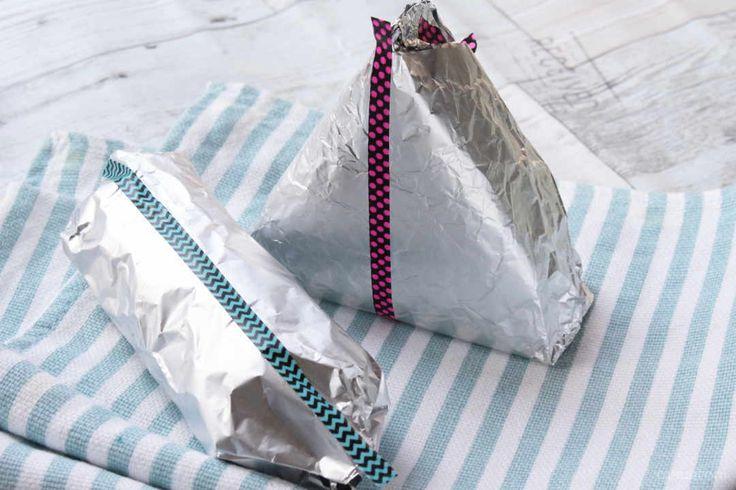 アルミホイルぴりぴり♩特別な日は「コンビニおにぎり風」の包み方で海苔パリパリ - macaroni