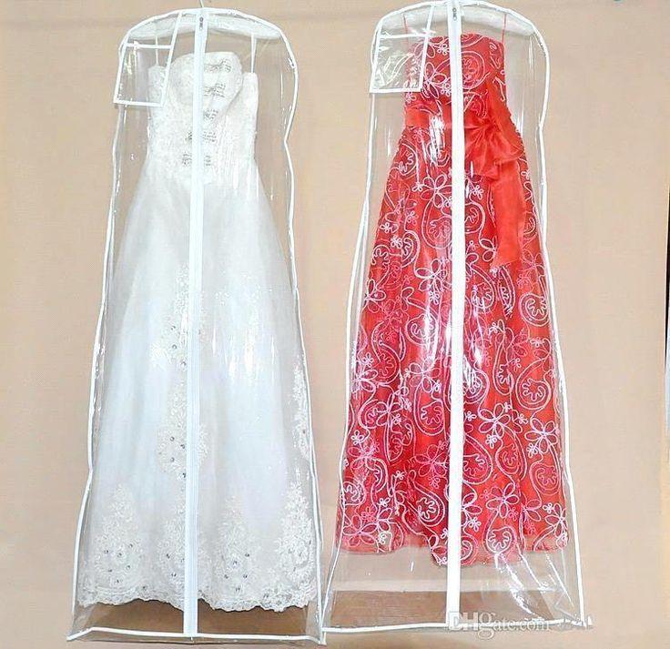 2016 Cheap See Through Wedding Dress Bags Hot Selling Fashion Wedding Accessory Packaging Bags White Wedding Dress Garment Bag free shipping