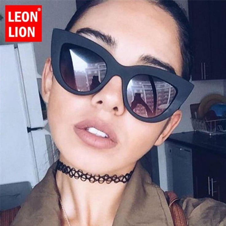 Luxury Cateye Sunglasses Women Candy Color Lens Glasses – designer Eyewear
