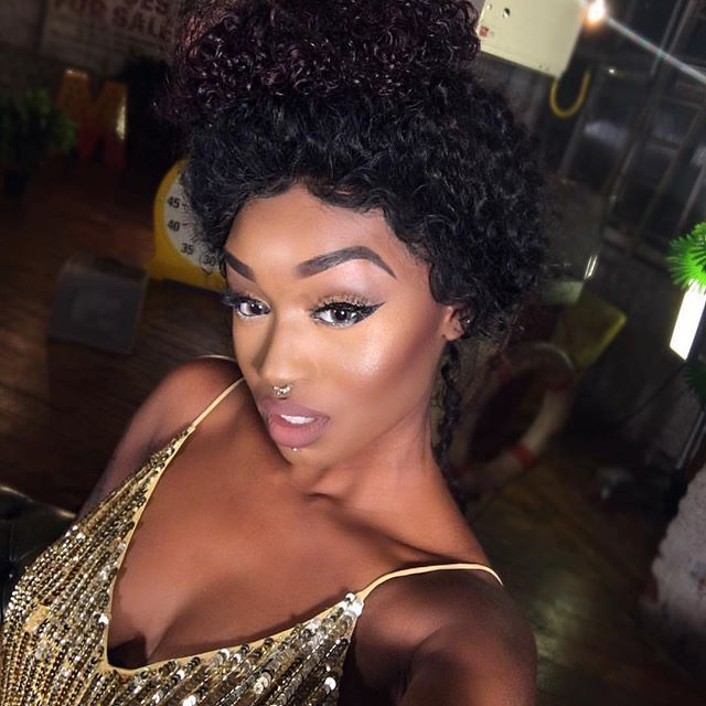 Short Curly Hairstyle For Brown Skin Girls To Try ,So Elegant. #nadula