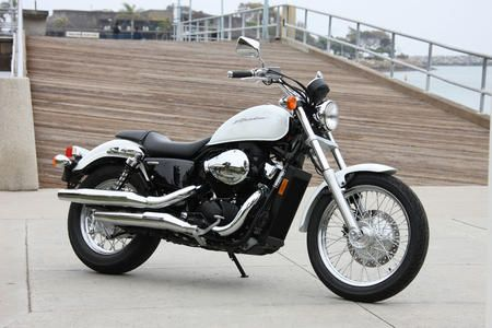 Learn to drive a motorcycle - Honda Shadow - smaller, and better for women.