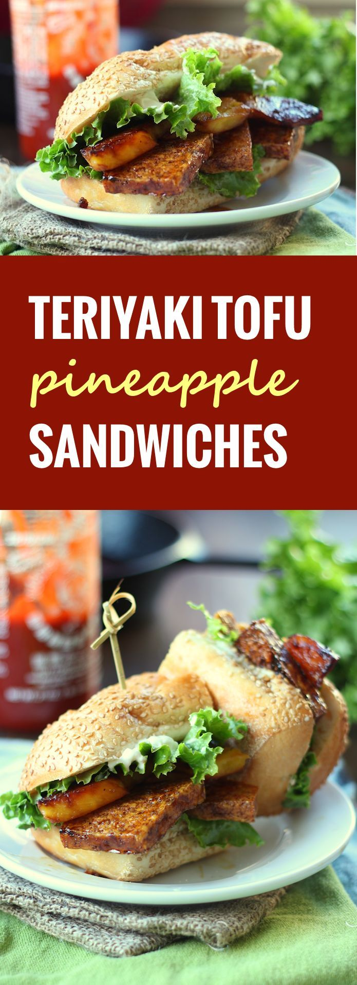 Pineapple Teriyaki Tofu Sandwiches - Connoisseurus Veg