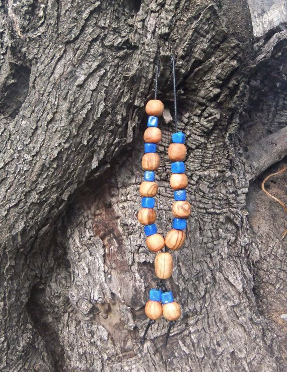 Hand made Greek Olive Wood Worry Beads or by ellenisworkshop