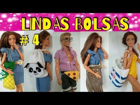 Como fazer bolsas tumblrs para barbie e outras bonecas # 4 - YouTube
