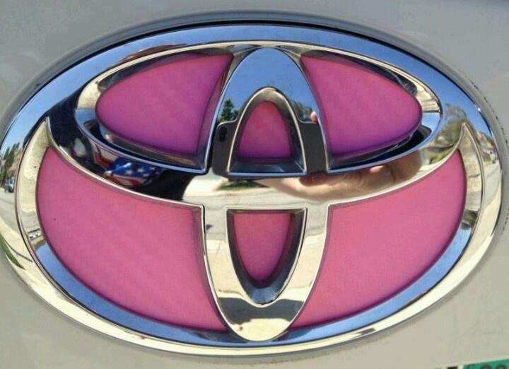 Pink Toyota emblem (: