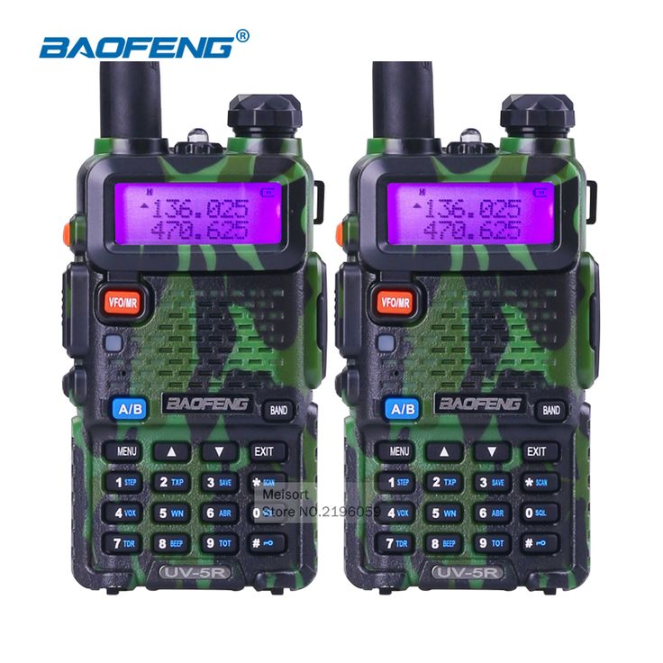 2pcs BaoFeng UV 5R Portable Radio VHF UHF Long Range Two Way Radio Earpiece CB Walkie Talkie Pair Ham Amateur Radio Communicator