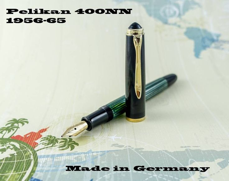 """A German #pen today. It's a Pelikan 400NN a great writer with a juicy broad nib.  金曜日ですこの #万年筆 は独国から来ました面白いペン先がありますお名前はペリカンのNN 四百です  1 #styloplume Allemand aujourd'hui. Un Pelikan 400NN broad flex des années 60. """"More pics and details go to the direct link on my homepage or visit FountainPenRebirth.Fr"""""""