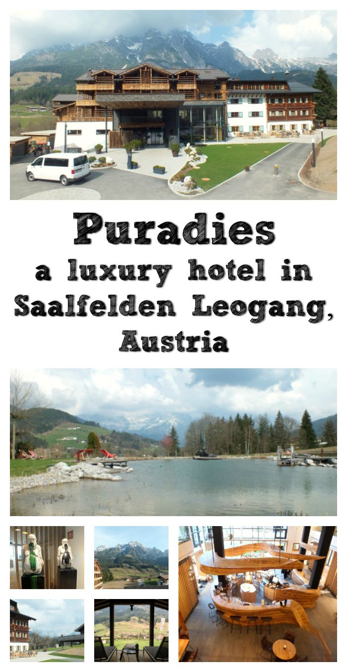 Puradies is a four-star luxury hotel in Leogang, Austria, part of the Skicircus Saalbach Hinterglemm Leogang Fieberbrunn and about an hour's drive from Salzburg. The tourist board at Saalfelden Leogang invited us to spend four nights at Puradies, so that we could experience the tail end of this year's ski season.
