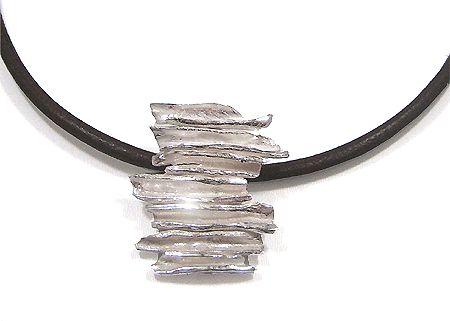 Zandstorm: Hanger in zilver (Art Clay Silver,hangers)