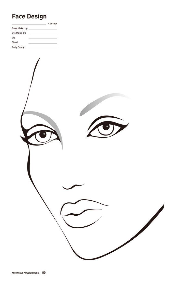 Kostenloses Druckbares Face Chart Fur Maskenbildner Facechart Makeup Mua Eugenepokoti Druckbares Eugenepokoti Dessin Visage Beau Visage Visage
