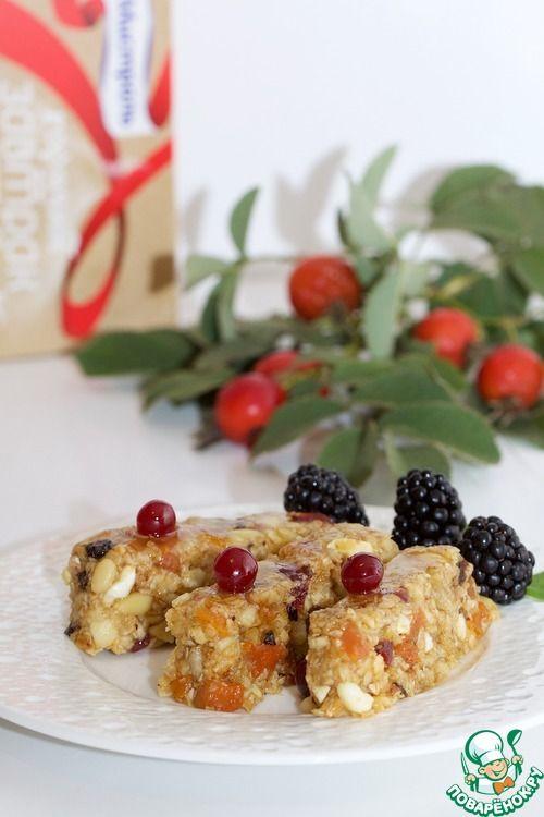 Медовый батончик без выпечки - кулинарный рецепт