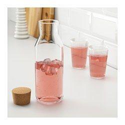IKEA - IKEA 365+, Carafe+bouchon, Peut être utilisé pour des boissons chaudes.Carafe étroite avec couvercle pratique. Peut facilement se glisser dans la porte du réfrigérateur.