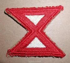 WW2 ERA US ARMY TENTH (10TH) ARMY INSIGNIA PATCH