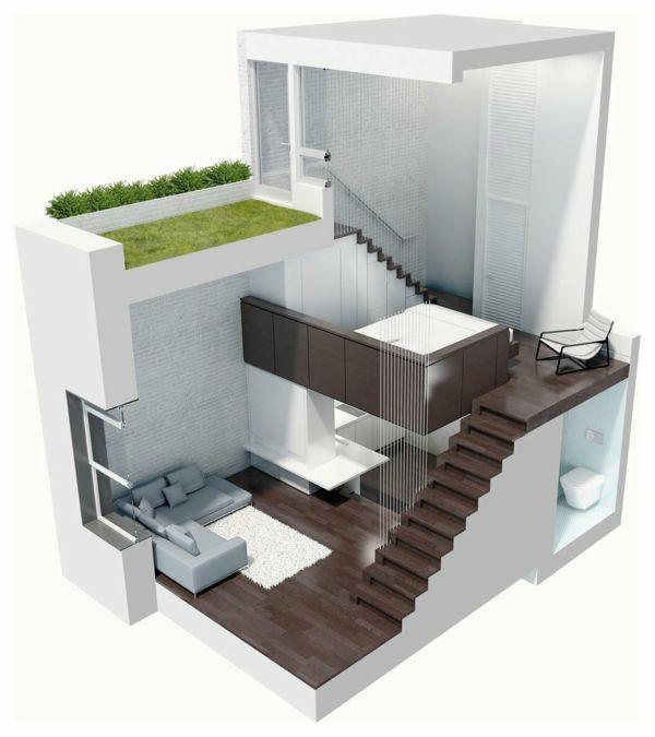 Helles kleines Loft Apartment in Manhattan von Specht Harpman - www.more4design.pl – www.mymarilynmonroe.blog.pl – www.iwantmore.pl